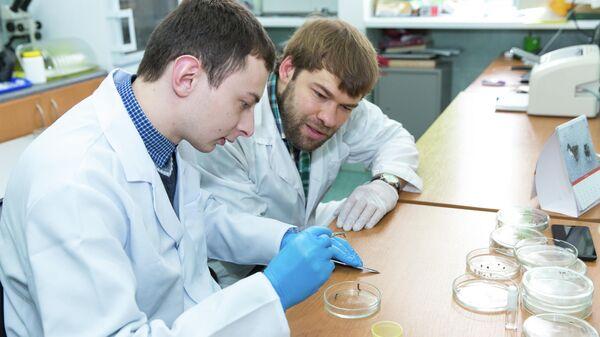 Ученые в лаборатории КФУ