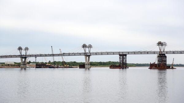 Строительство автомобильного моста через реку Амур между городами Благовещенск и Хэйхэ