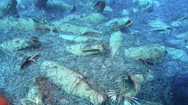Артефакты, обнаруженный на месте древнего кораблекрушения в районе Протараса