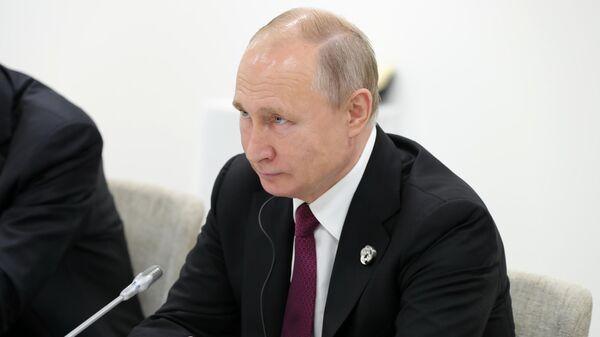 Президент РФ Владимир Путин на саммите Группы двадцати