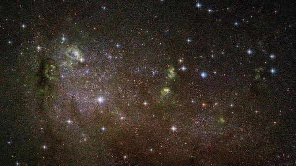 Неправильная галактика IC 10 в созвездии Кассиопея