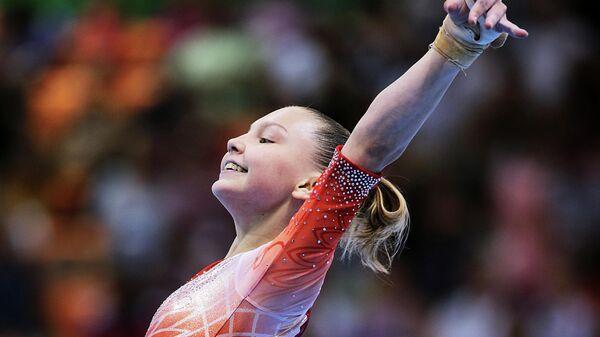 Елена Герасимова на чемпионате мира по спортивной гимнастике в Дьере
