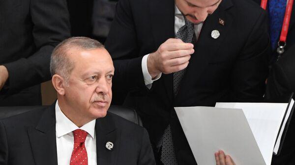 Президент Турции Реджеп Тайип Эрдоган на саммите Группы двадцати в Осаке. 28 июня 2019