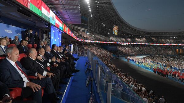 Владимир Путин на торжественной церемонии закрытия II Европейских игр в Минске