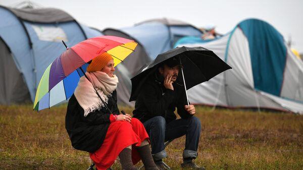 Зрители на музыкальном фестивале Дикая мята в Тульской области