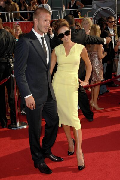 Дэвид и Виктория Бекхэм на церемонии вручения 2008 ESPY Awards в Лос-Анджелесе, США. 2016 год