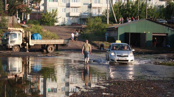 Последствия подтопления в городе Тулун в Иркутской области. 4 июля 2019