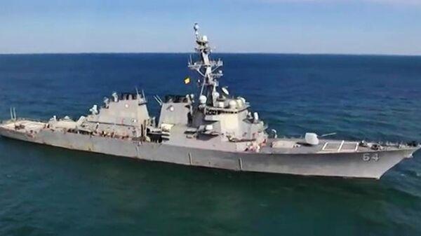 Эсминец ВМС США Carney в акватории Черного моря во время учения стран НАТО Sea Breeze-2019