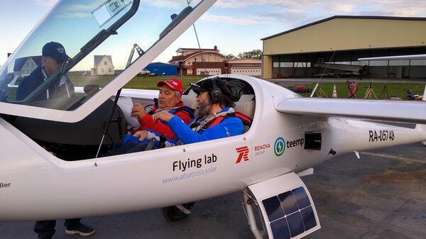 Федор Конюхов отправился в испытательный полет из Москвы в Крым на самолете Летающая Лаборатория