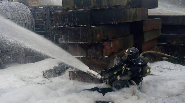 В МЧС рассказали подробности возгорания на газовой заправке в Новой Москве