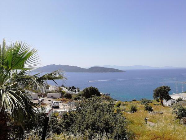 Вид с побережья Бодрума на греческий остров Кос