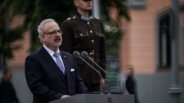 Выступление президента Латвии Эгилса Левитса в день инаугурации