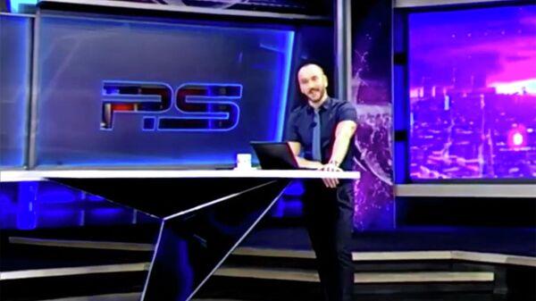 Ведущий программы Постскриптум Георгий Габуния во время эфира