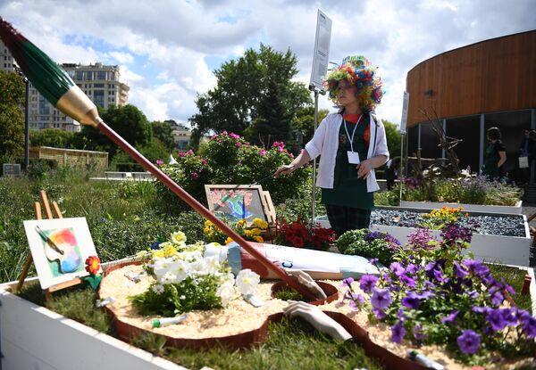 Фестиваль садов и цветов Moscow Flower Show в парке искусств Музеон.
