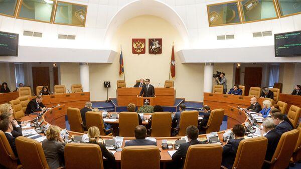 Депутаты Мосгордумы на первом заседании Московской Городской Думы шестого созыва