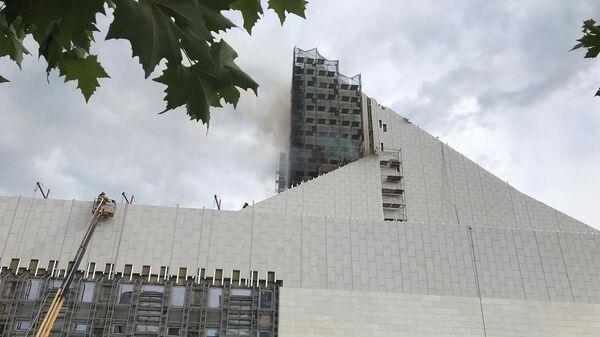 Пожар в Ростове-на-Дону в Музыкальном театре. 9 июля 2019