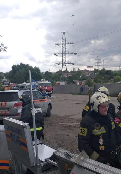 МЧС при ликвидации пожара на территории Северной ТЭЦ в Мытищах