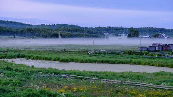 Туман на Соловецких островах