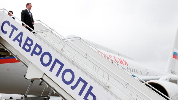 Медведев прибыл в Ставрополь