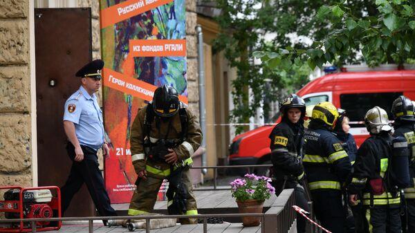 Пожар в Российском государственном архиве литературы и искусства