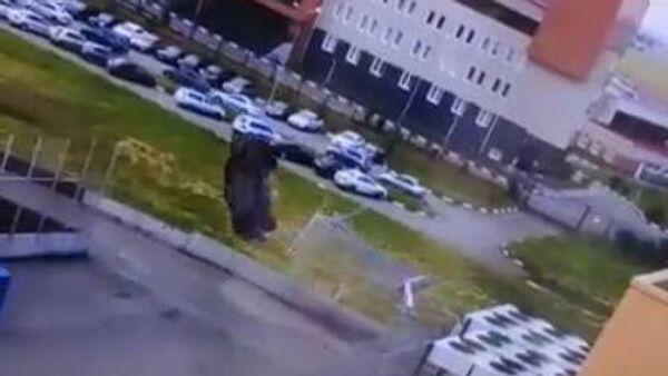 Двойное сальто автомобиля в Омске попало на видео