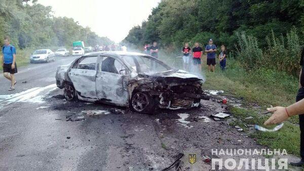 Последствия ДТП на участке дороги Полтава - Сумы, вблизи села Бричковка. 13 июля 2019