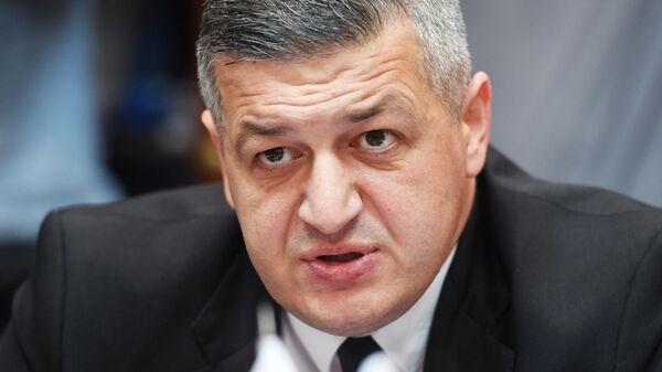 Депутат парламента от оппозиционной партии Альянс патриотов Грузии Георгий Ломия во время встречи с депутами Госдумы РФ. 15 июля 2019