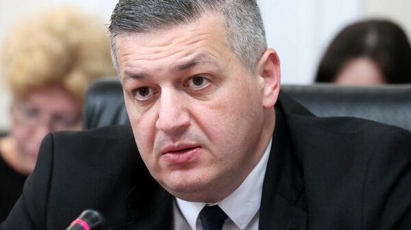Руководитель фракции Альянс патриотов Грузии Георгий Ломия во время визита в Москву. 15 июля 2019