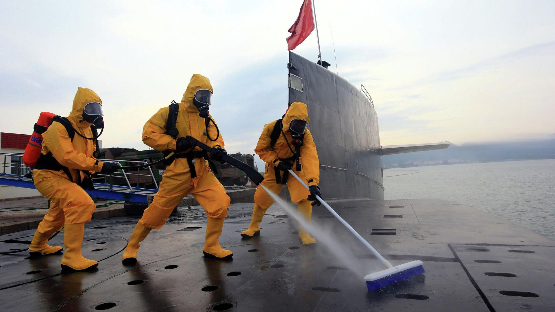 Атомная подводная лодка ВМС Китая на военной базе Циндао  - РИА Новости, 1920, 27.08.2020