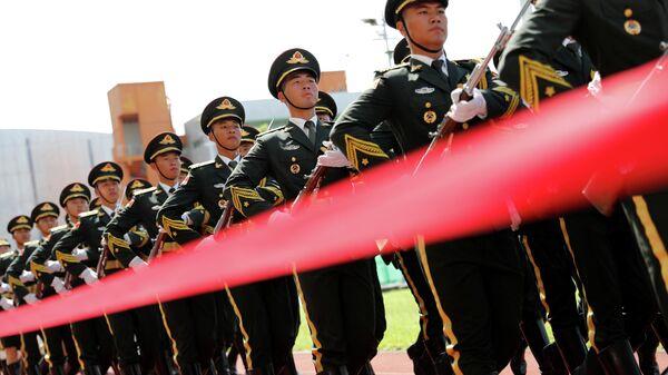 Военнослужащие Народно-освободительной армии Китая. Архивное фото