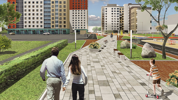 Проект бульвара в Екатеринбурге