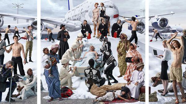 Allegoria Sacra. Snow Elegy 2013 Триптих, цифровой коллаж, печать LightJet, Диасек