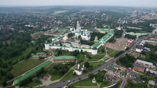 Вид на Сергиев Посад в Московской области