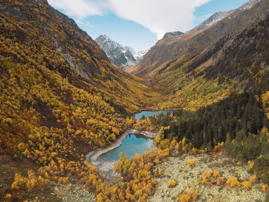 Осенний поход на Бадукские озера