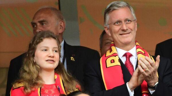 Бельгийский король Филипп и его дочь принцесса Елизавета, герцогиня Брабантская