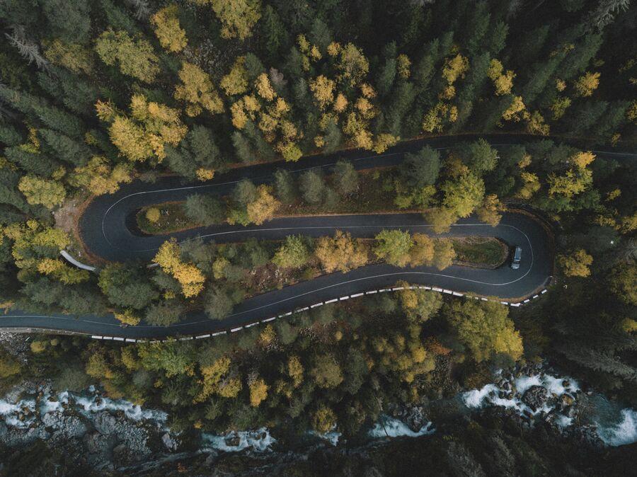 Дорога на Гоначхир. Домбай
