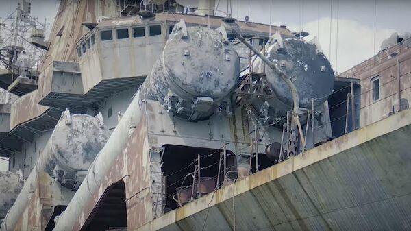 Зеленский показал на видео ржавый крейсер Украина