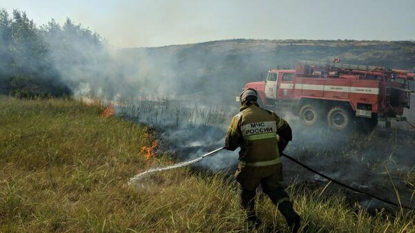 Ликвидация природного пожара в Оренбургской области. 21 июля 2019