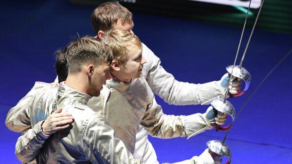 Константин Лоханов, Вениамин Решетников, Дмитрий Даниленко  и  Алексей Якименко (слева направо)