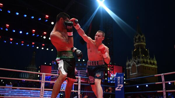 Боксерское шоу на Красной площади