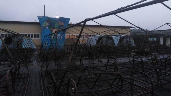 Пожар в палаточном городке в Хабаровском крае. 22 июля 2019