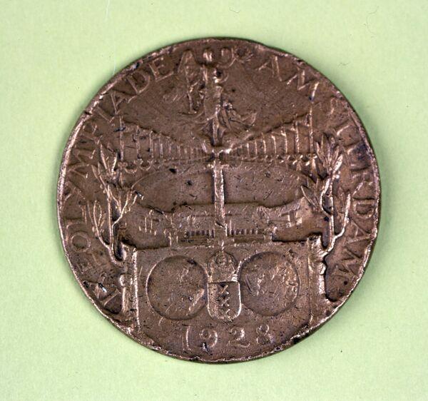 Медаль IX летних Олимпийских игр в Амстердаме в 1928 году.
