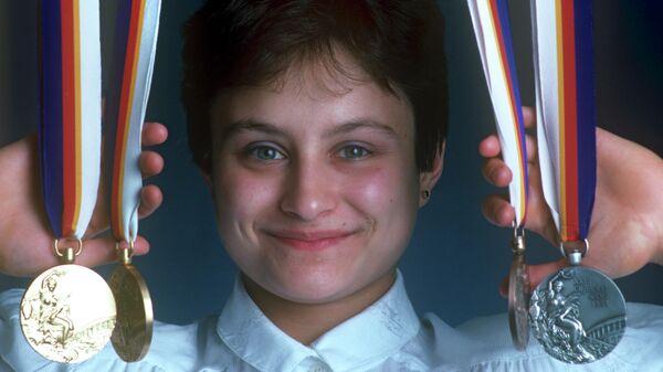 Медали олимпийской чемпионки по спортивной гимнастике Елена Шушунова. XXIV летние Олимпийские игры.