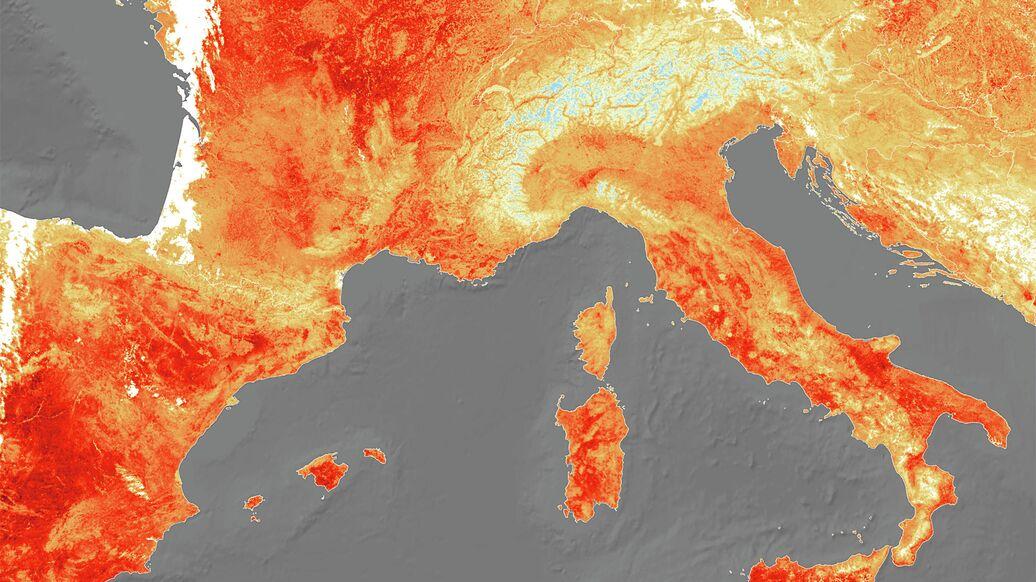 Rekordnuyu Zharu V Evrope Pokazali Iz Kosmosa Ria Novosti 25 07 2019