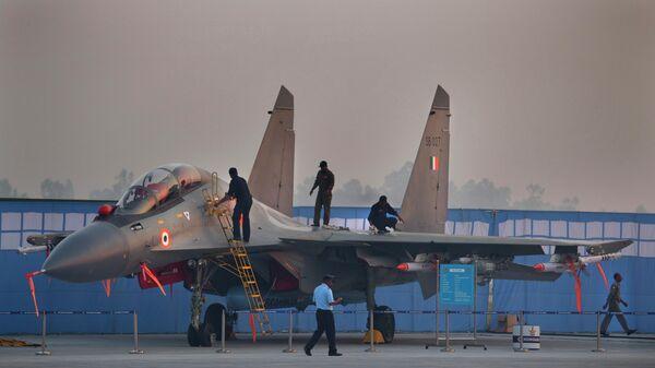 Истребитель Су-30МКИ индийских ВВС