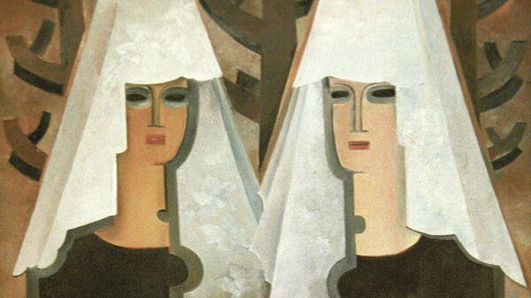 Картина Натальи Гончаровой Две испанки (начало 1920-х годов)