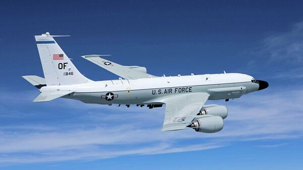 Самолет радиоэлектронной разведки американских ВВС Boeing RC-135V Rivet Joint