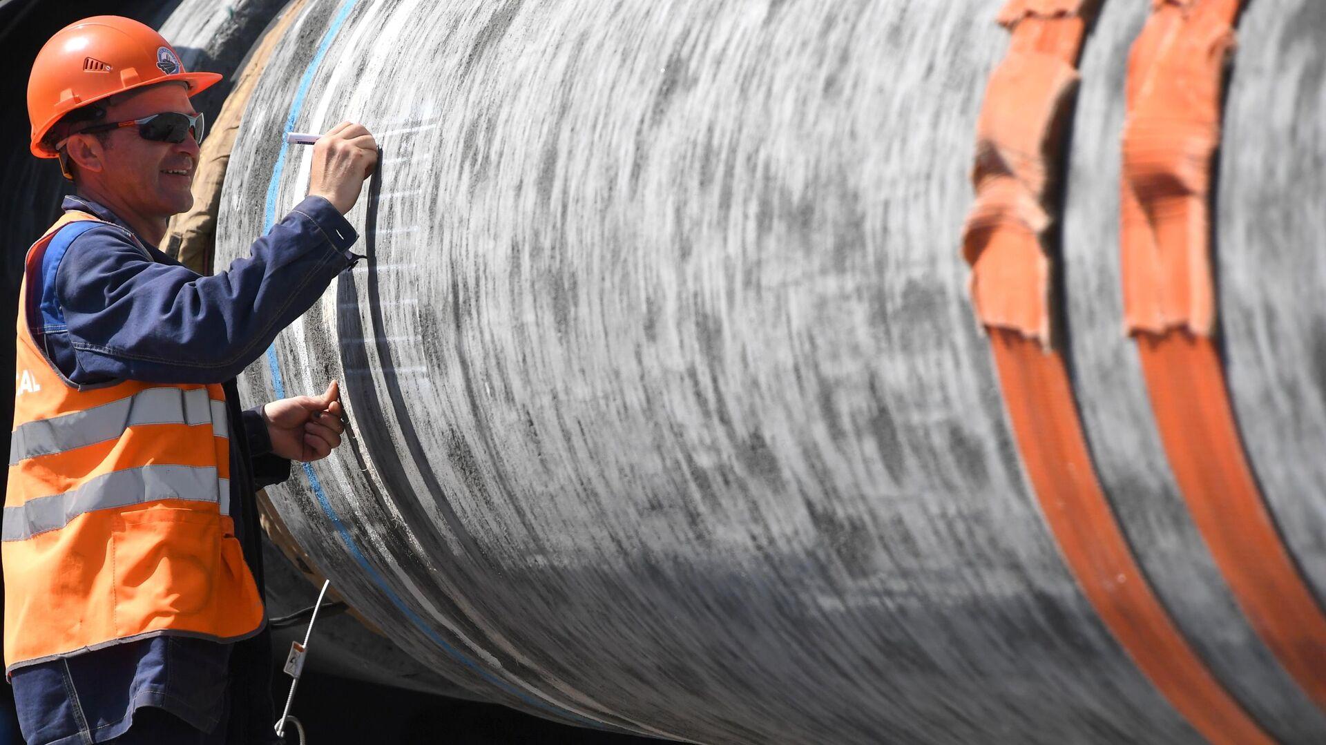 Строительство газопровода Северный поток-2 в Ленинградской области - РИА Новости, 1920, 24.10.2020