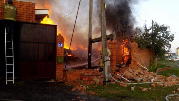 Пожар в поселке Боровский Тюменской области