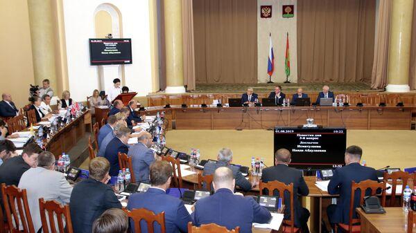 Сессия регионального парламента Липецкой области